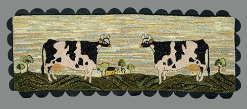 Cow with Scalloped Fringe